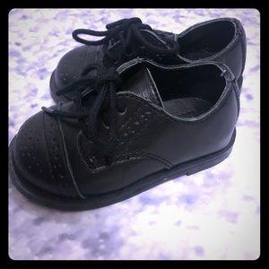 Janie and Jack dress leather black shoes 4